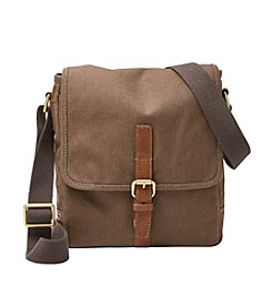 Fossil® Men's Davis Canvas Small Messenger Bag