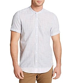 William Rast® Men's Short Sleeve Banded Collar Button Down Shirts
