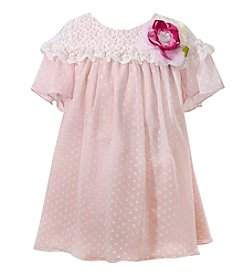 Bonnie Jean® Girls' 2T-6X Lace Empire Chiffon Dress