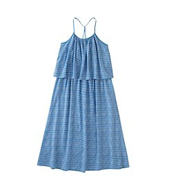 Calvin Klein Jeans Girls' 7-16 Sleeveless Flutter Dress