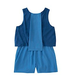 Calvin Klein Jeans Girls' 7-16 Sleeveless Seamed Panel Romper
