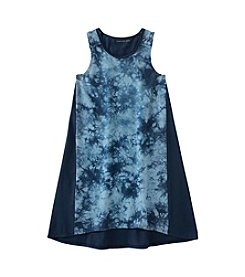 Calvin Klein Girls' 7-16 Sleeveless Vapor Dyed Dress