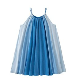 Calvin Klein Jeans Girls' 7-16 Sleeveless Ombre Panel Dress