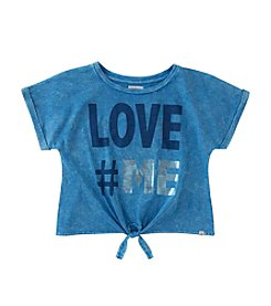 Calvin Klein Jeans Girls' 7-16 Short Sleeve Love Me Tee