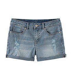 Calvin Klein Jeans Girls' 7-16 Roll Up Denim Shorts