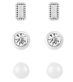 Laundry® Pearl Stud Earrings Set