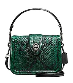 COACH PAGE CROSSBODY IN SNAKE EMBOSSED LEATHER