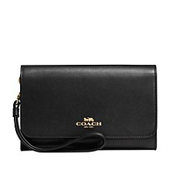 COACH BOXED PHONE CLUTCH IN REFINED CALF LEATHER