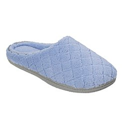 10f3ccc4c73 Dearfoams® Quilted Microfiber Terry and Memory Foam Clog Slippers