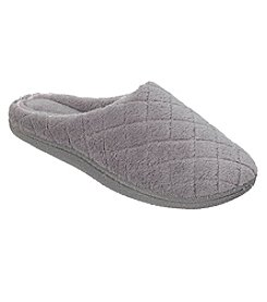 Dearfoams® Quilted Microfiber Terry and Memory Foam Clog Slippers