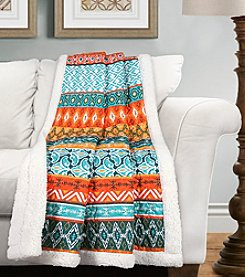Valerie Stripe Sherpa Throw