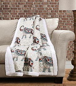 Hati Elephants Sherpa Throw