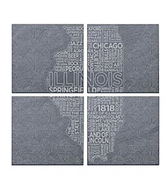 SPARQ Home 4-Piece Illinois Coaster Set