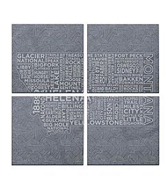 SPARQ Home 4-Piece Montana Coaster Set