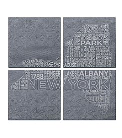 SPARQ Home 4-Piece New York Coaster Set