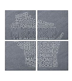 SPARQ Home 4-Piece Wisconsin Coaster Set