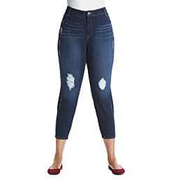 Gloria Vanderbilt® Plus Size Destructed Ankle Pants