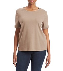 Studio Works® Plus Size Crew Neck Top
