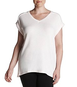 Calvin Klein Plus Size V Neck Top