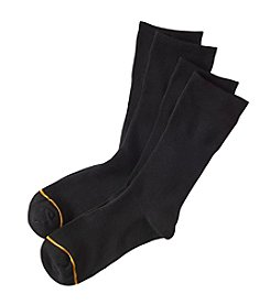 GOLD TOE® Men's Non-Binding Rayon Crew Socks