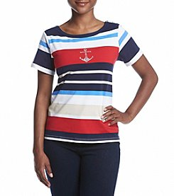 Alfred Dunner® Petites' Liberty Stripe Knit Top