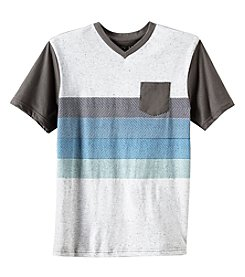 Distortion Boys' 8-20 Short Sleeve V Neck Print Tee