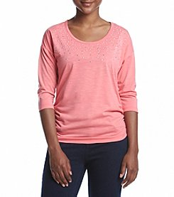 Breckenridge® Petites' Stud Knit Top