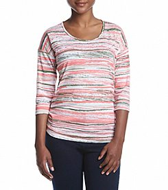 Breckenridge® Petites' Stripe Knit Top