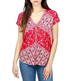 Lucky Brand® Bali Ditsy Top
