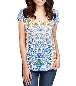 Lucky Brand® Placed Geo Tee