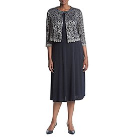Jessica Howard® Plus Size Lace Jacket Dress