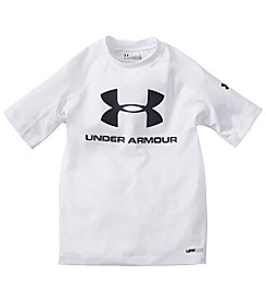 Under Armour® Boys' 4-7 Short Sleeve Logo Compression Rashguard Top