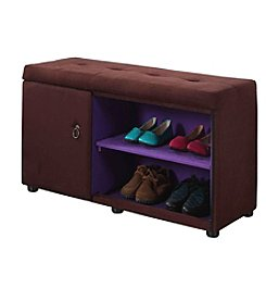Ore International™ Shoe Compartment Ottoman
