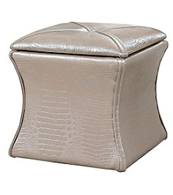Ore International™ Croc Storage and Seating Ottoman