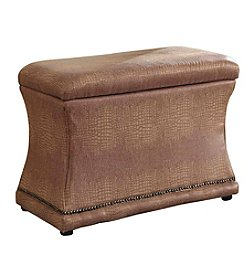 Ore International™ Croc Svelte Storage Ottoman