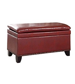 Ore International™ Double Cushion Storage Ottoman