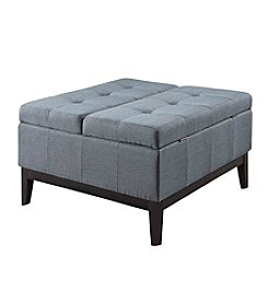 Ore International™ Dual Lift Storage Cocktail Ottoman
