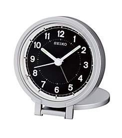 Seiko® Travel Alarm Clock with Folding Stand