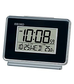 Seiko® Digital Bedside Clock with Dual Alarms