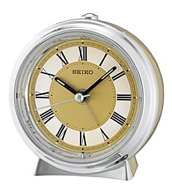 Seiko® Two-Tone Metallic Bedside Alarm Clock