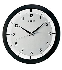 Seiko® Wall Clock with Brushed Metal Dial