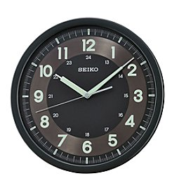 Seiko® Wall Clock with Quiet Sweep Second Hand