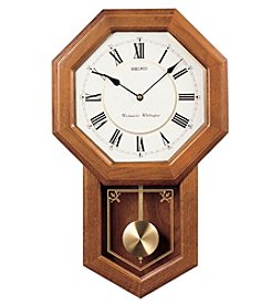 Seiko® Chime Schoolhouse Clock with Pendulum
