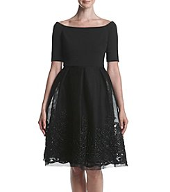 Jessica Howard® Off Shoulder Beaded Skirt Dress