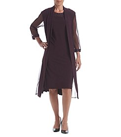 R&M Richards® Beaded Trim Jacket Dress
