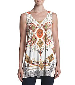 Philosophy by Republic Clothing Printed Lace Back Tunic