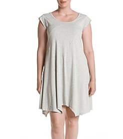Cupio Plus Size Grey Pieced Knit Dress