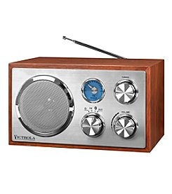 Victrola® Wooden Desktop Bluetooth® Radio