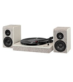 Victrola® Wood and Linen Fabric Bluetooth® Record Player with 3-speed Turntable