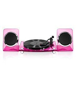 Victrola® Acrylic Bluetooth® 40 Watt Record Player with 2-Speed Turntable and Rechargeable Speakers